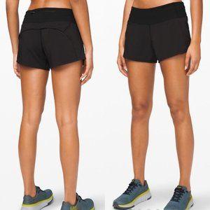 Lululemon Run Speed Shorts Solid Black Size 10